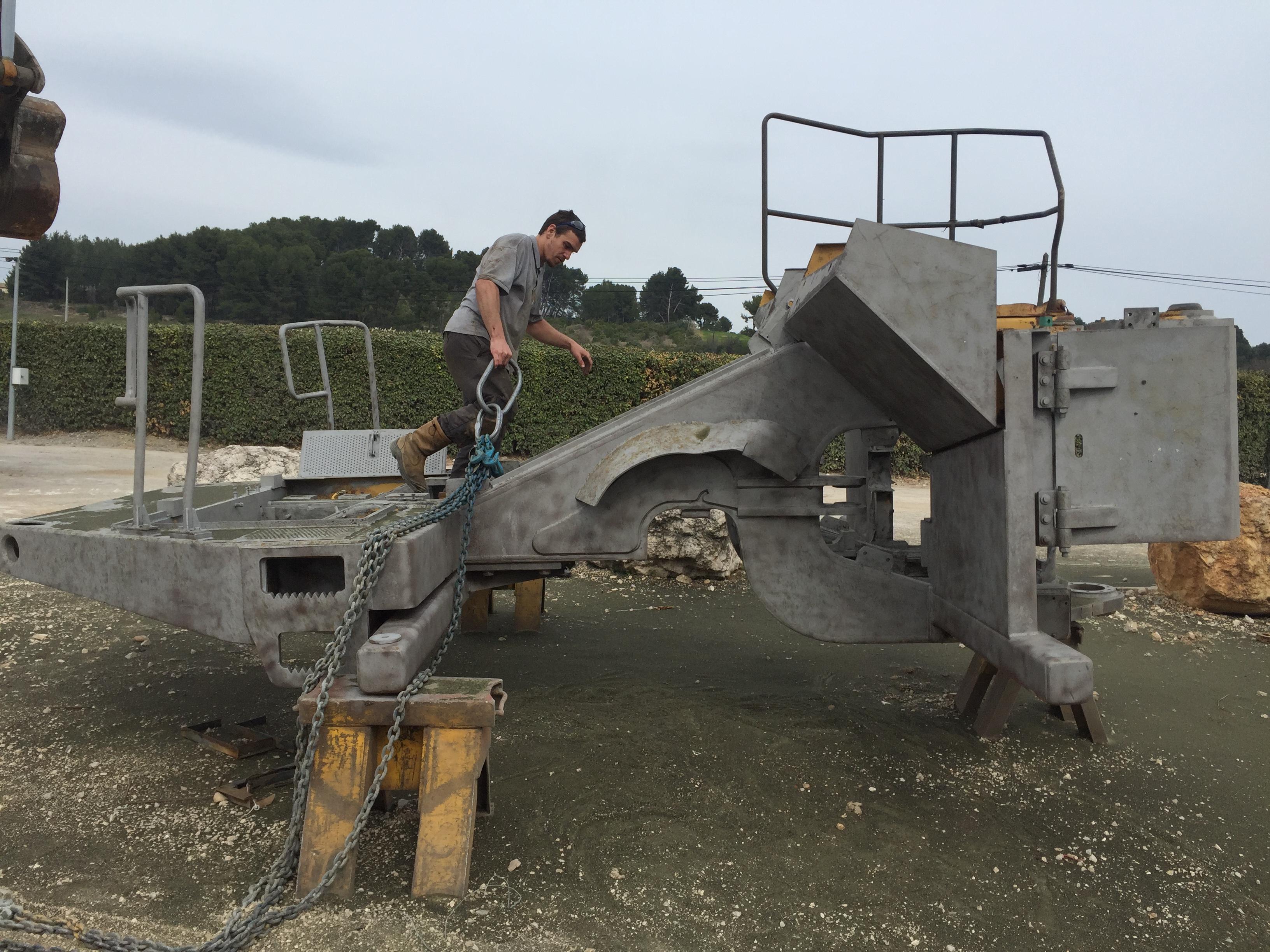 Décapage de matériel de chantier