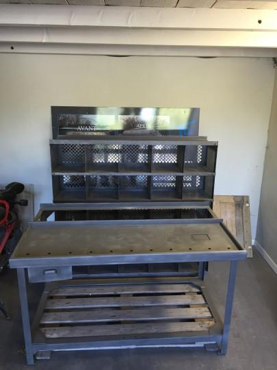 Décapage de meuble en métal