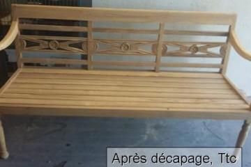 Décapage de meubles vernis