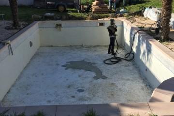 Décapage de piscine