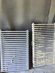 Sablage de radiateur en fonte