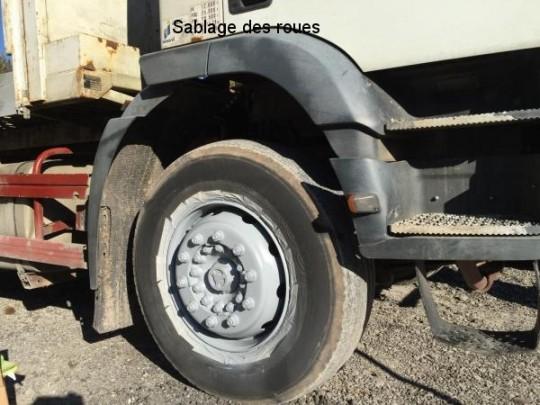 Sablage des roues